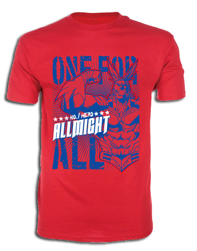 My Hero Academia - Allmight 02 Men's T-Shirt M officially licensed My Hero Academia T-Shirts product at B.A. Toys.