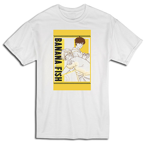 Banana Fish - Ash & Eiji Yellow Art Mens T-Shirt S, an officially licensed Banana Fish product at B.A. Toys.