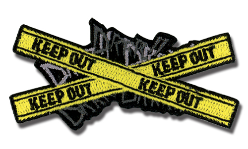 Durarara!! Drrr Keep Out Patch, an officially licensed product in our Durarara!! Patches department.