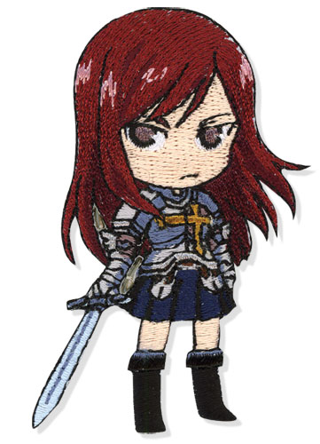 Fairy Tail Erza Patch officially licensed product at B.A. Toys.