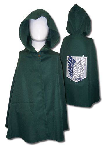 Attack On Titan - Scouting Legion Hooded Cloak, an officially licensed Attack On Titan product at B.A. Toys.