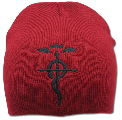 Full Metal Alchemist Brotherhood Elric Brother's Mark Beanie officially licensed product at B.A. Toys.