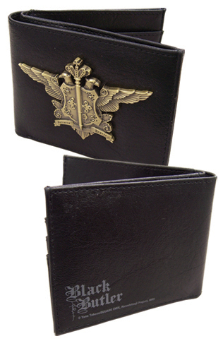 Black Butler Phantomhive Emblem Wallet, an officially licensed Black Butler product at B.A. Toys.
