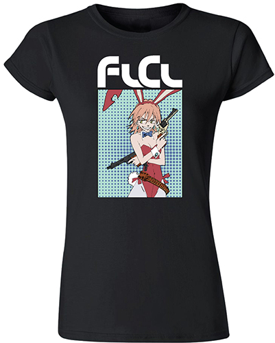 Flcl - Haruko Jrs. Screen Print T-Shirt S, an officially licensed product in our Flcl T-Shirts department.