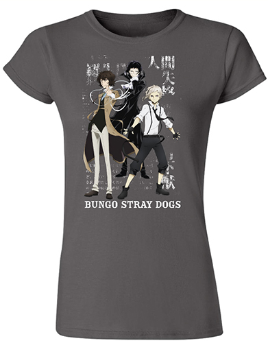 Bungo Stray Dogs - Group Jrs. T-Shirt L, an officially licensed product in our Bungo Stray Dogs T-Shirts department.