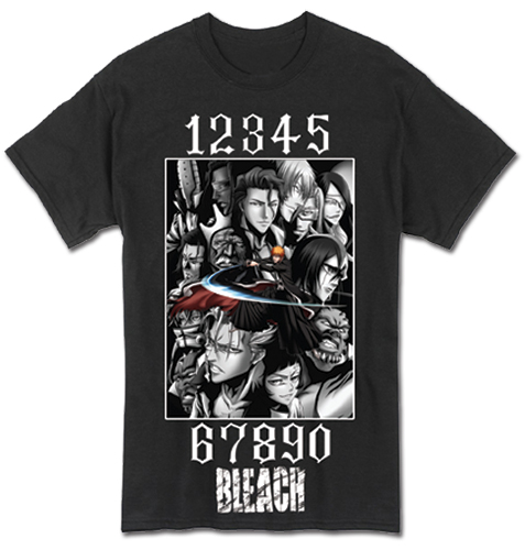 Bleach - Bleach Group Men's T-Shirt L officially licensed Bleach T-Shirts product at B.A. Toys.