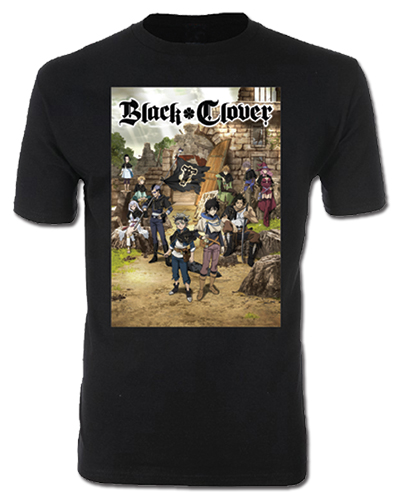 Black Clover - Key Visual Mens T-Shirt L, an officially licensed Black Clover product at B.A. Toys.
