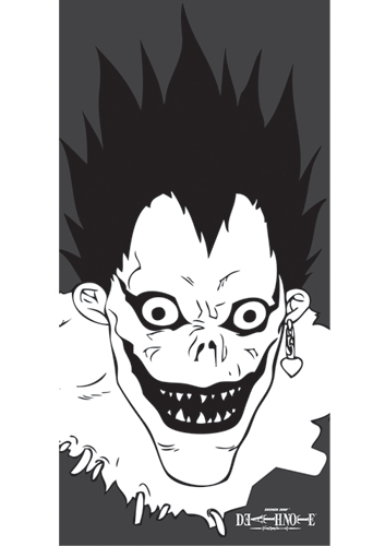 Death Note Ryuk Towel, an officially licensed Death Note product at B.A. Toys.
