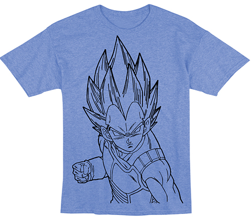 Dragon Ball Z - Vegeta Line Art T-Shirt L officially licensed Dragon Ball Z T-Shirts product at B.A. Toys.