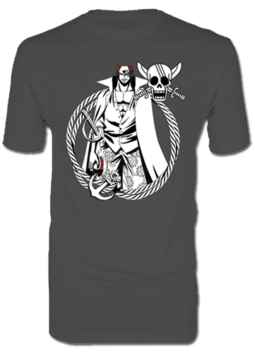 One Piece - Shanks Men's T-Shirt S, an officially licensed product in our One Piece T-Shirts department.