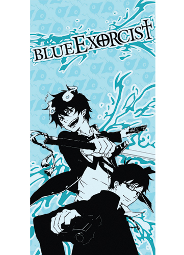 Blue Exorcist Rin And Yukio Towel, an officially licensed Blue Exorcist Towels