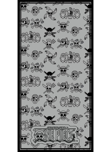 One Piece Straw Hat Pirates Jolly Roger Towel officially licensed product at B.A. Toys.