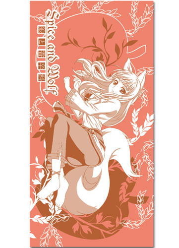 Spice And Wolf Holo With Apple Towel, an officially licensed product in our Spice & Wolf Towels department.