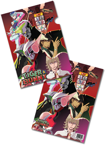 Tiger & Bunny Keyart File Folder (5 Pcs Pack), an officially licensed product in our Tiger & Bunny Stationery department.