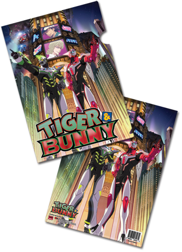 Tiger & Bunny Tiger And Bunny File Folder (5 Pcs Pack), an officially licensed product in our Tiger & Bunny Stationery department.
