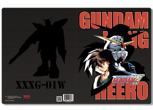 Gundam Wing Heero & Wing Pocket File Folder, an officially licensed product in our Gundam Wing Binders & Folders department.