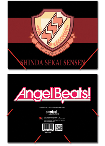Angel Beats Sss Elastic Band Pp Document Folder, an officially licensed Angel Beats Binder/ Folder
