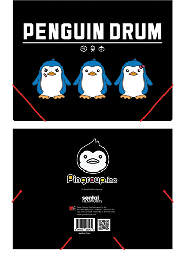 Penguin Drum Pingroup Elastic Band Pp Document Folder, an officially licensed Penguin Drum Binder/ Folder