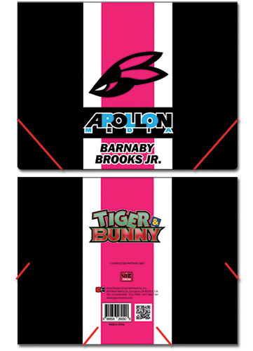 Tiger& Bunny Barnaby Elastic Band Document File Folder officially licensed product at B.A. Toys.