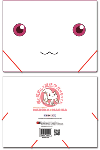 Madoka Magica Kyubey Elastic Band Pp Document Folder, an officially licensed product in our Madoka Magica Binders & Folders department.