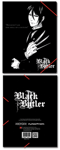 Black Butler 2 Sebastian Elastic Band Pp Document Folder, an officially licensed Black Butler product at B.A. Toys.