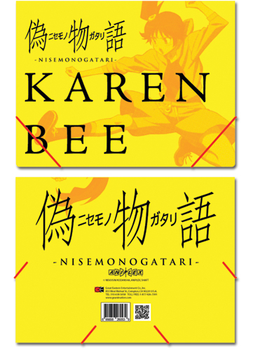 Nisemongatari Karen Elastic Band Document Folder, an officially licensed product in our Nisemongatari Binders & Folders department.