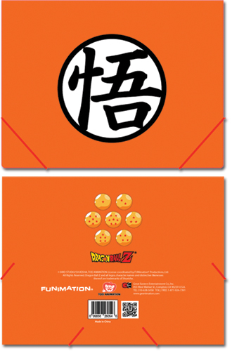 Dragon Ball Z Goku Mark Elastic Band Pp Document Folder, an officially licensed Dragon Ball Z Binder/ Folder