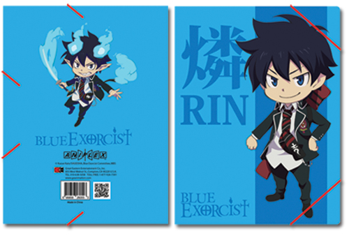 Blue Exorcist Rin Elastic Band Pp Document Folder officially licensed Blue Exorcist Binders & Folders product at B.A. Toys.