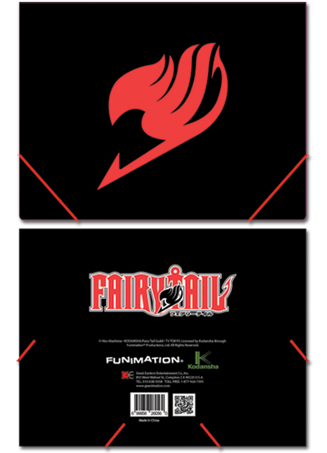 Fairy Tail Emblem Elastic Band Pp Document Folder, an officially licensed Fairy Tail Binder/ Folder