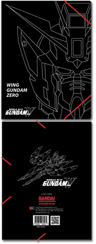 Gundam Wing Zero Elastic Band Pp Document Folder, an officially licensed product in our Gundam Wing Binders & Folders department.