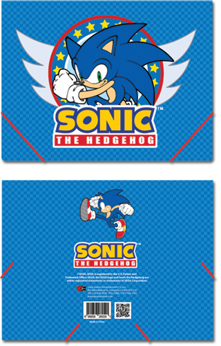 Sonic The Hedgehog Sonic Elastic Band Pp Document Folder, an officially licensed product in our Sonic Binders & Folders department.