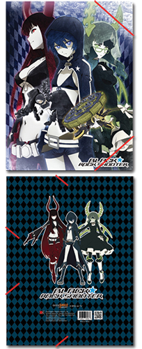 Black Rock Shooter Group Elastic Band Pp Document Folder, an officially licensed Black Rock Shooter Binder/ Folder