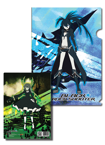 Black Rock Shooter Black Rock Shooter & Dead Master File Folder, an officially licensed product in our Black Rock Shooter Stationery department.