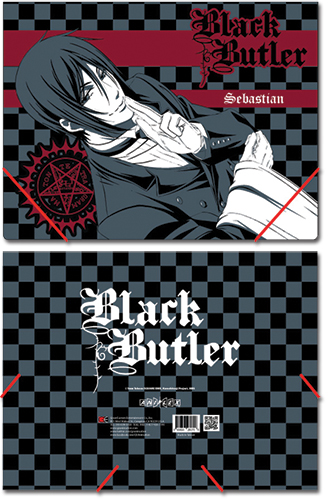 Black Butler Sebastian Elastic Band Document File Folder, an officially licensed Black Butler product at B.A. Toys.