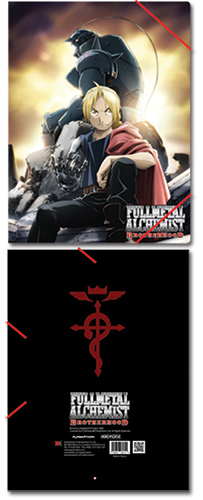 Full Metal Alchemist Brotherhood Group Elastic Band Document Folder, an officially licensed product in our Fullmetal Alchemist Binders & Folders department.