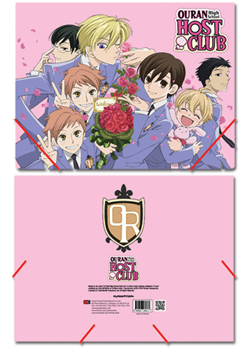 Ouran High School Host Club Group Elastic Band Document Folder, an officially licensed product in our Ouran High School Host Club Stationery department.