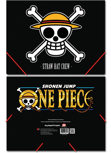 One Piece Ruffy's Flag Elastic Band Document File Folder, an officially licensed One Piece Binder/ Folder
