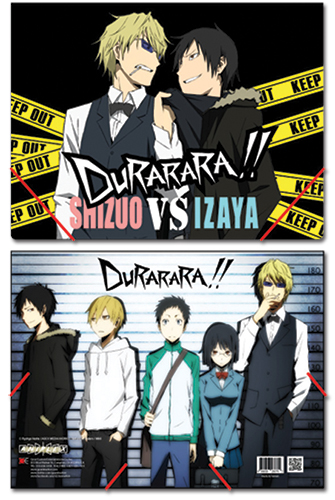 Durarara!! Group Elastic Band File Folder, an officially licensed product in our Durarara!! Binders & Folders department.