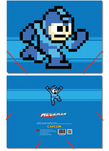 Megaman Mega Man Elastic Band Document Folder, an officially licensed product in our Mega Man Binders & Folders department.
