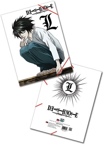 Death Note L Elastic Band Document Folder, an officially licensed product in our Death Note Binders & Folders department.