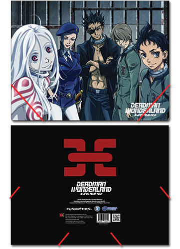 Deadman Wonderland Group Elastic Document Folder, an officially licensed Deadman Wonderland Binder/ Folder