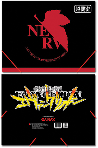 Evangelion Nerv Logo Elastic Band Document Folder officially licensed Evangelion Binders & Folders product at B.A. Toys.