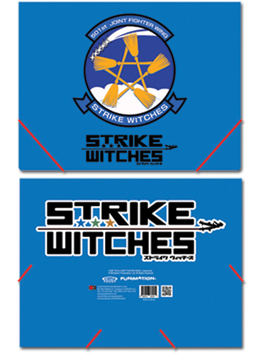 Strike Witches Logo Elastic Band Document File Folder, an officially licensed product in our Strike Witches Binders & Folders department.