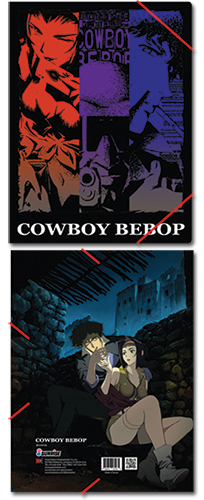 Cowboy Bebop Group Elastic Band Document Folder, an officially licensed Cowboy Bebop Binder/ Folder