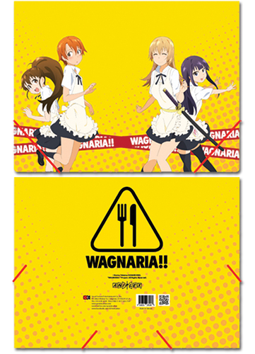Wagnaria Group Elastic Band Document File Folder, an officially licensed product in our Wagnaria!! Binders & Folders department.