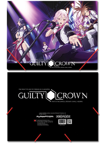 Guilty Crown Group Elastic Band Document officially licensed Guilty Crown Stationery product at B.A. Toys.