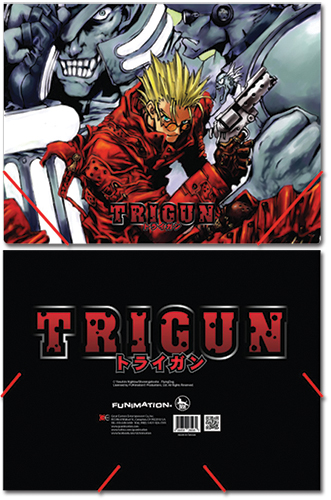 Trigun Group Elastic Band Document File Folder officially licensed Trigun Binders & Folders product at B.A. Toys.