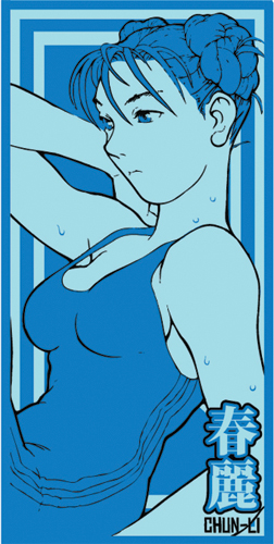 Street Fighter Alpha Chun-Li Towel, an officially licensed product in our Street Fighter Towels department.
