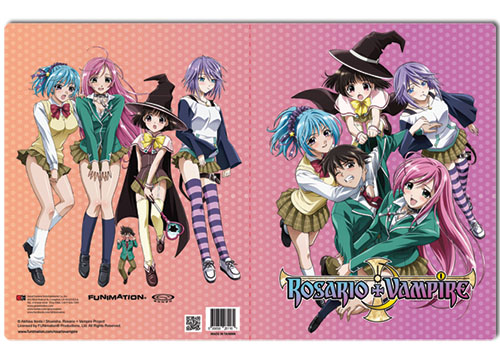Rosario Vampire Group Pocket File Folder, an officially licensed Rosario Vampire Binder/ Folder