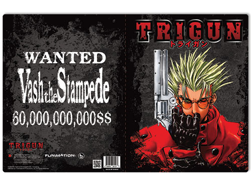 Trigun Trigun Pocket File Folder officially licensed Trigun Binders & Folders product at B.A. Toys.